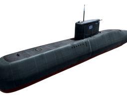 3d model realtime preveze class submarine 209 type 1400