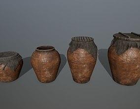 old 3D asset game-ready vase set