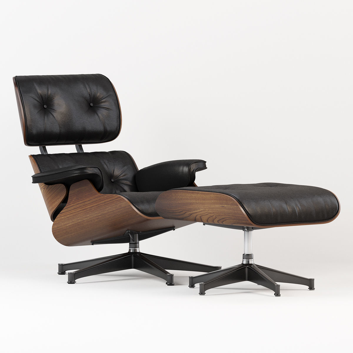 Astounding Eames Style Lounge Chair And Ottoman 3D Model Beatyapartments Chair Design Images Beatyapartmentscom