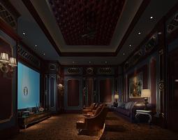 Private cinema hall 3D model