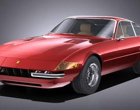 HQLowPoly Ferrari Daytona 1968-1973 3D model