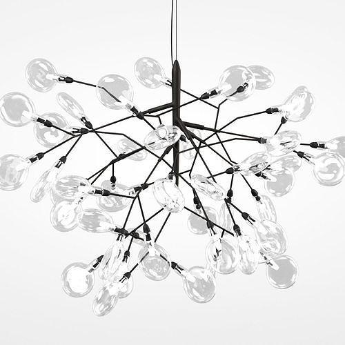 Led Chandelier Crystal Lux Evita Sp63 Black 3d