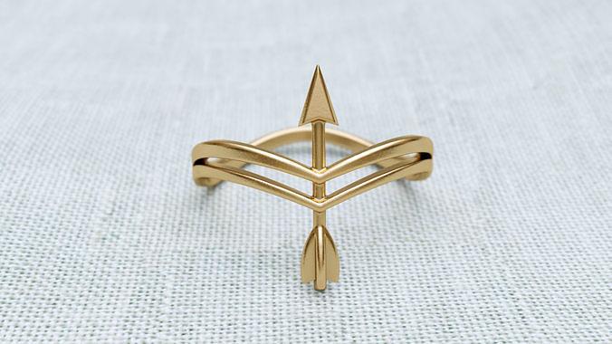 arrow ring r f 0085 3d model obj mtl 3ds stl 3dm 1