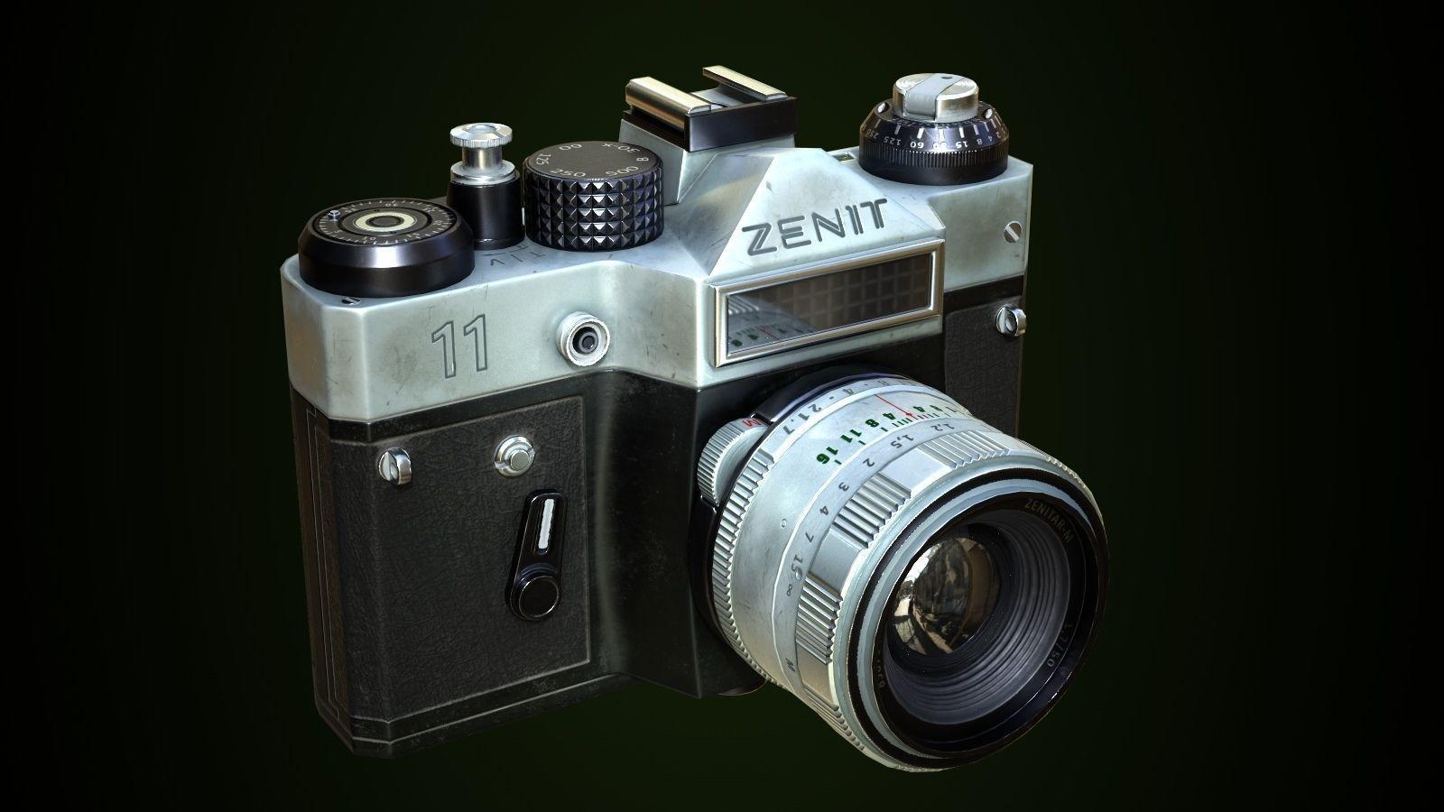 3d Asset Zenit 11 Photocamera Cgtrader
