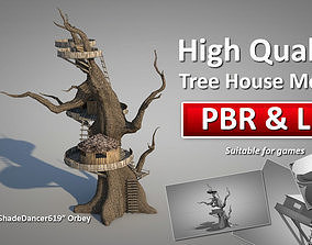 Tree House 3D model realtime PBR