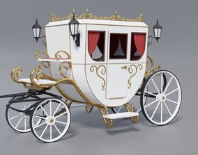 3D model Modern beautiful carriage Low poly