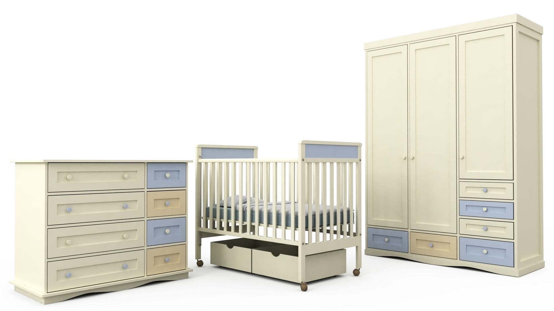 Children Bedroom Furniture Set 1 | 3D model