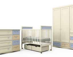 Children Bedroom Furniture Set 1 3D