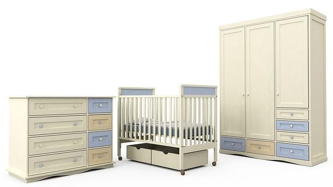 Children Bedroom Furniture Set 1 3D | CGTrader