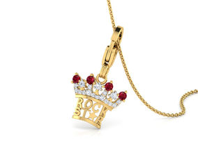 3D print model Rockstar Crown Charm Pendant