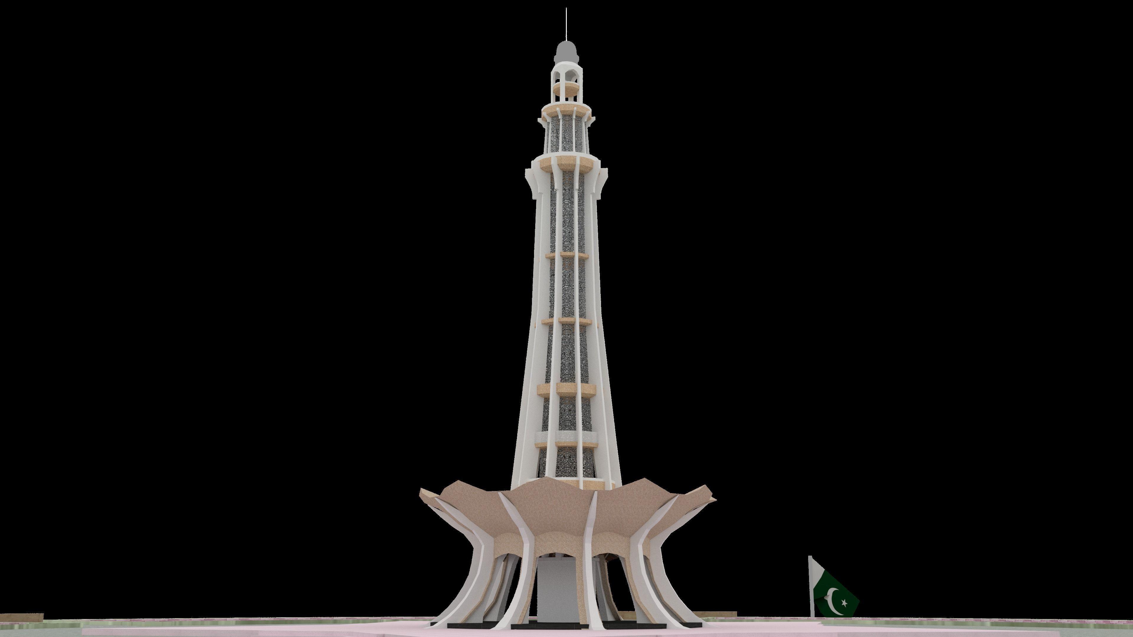 Minar-e-Pakistan - Lowpoly - Game Ready
