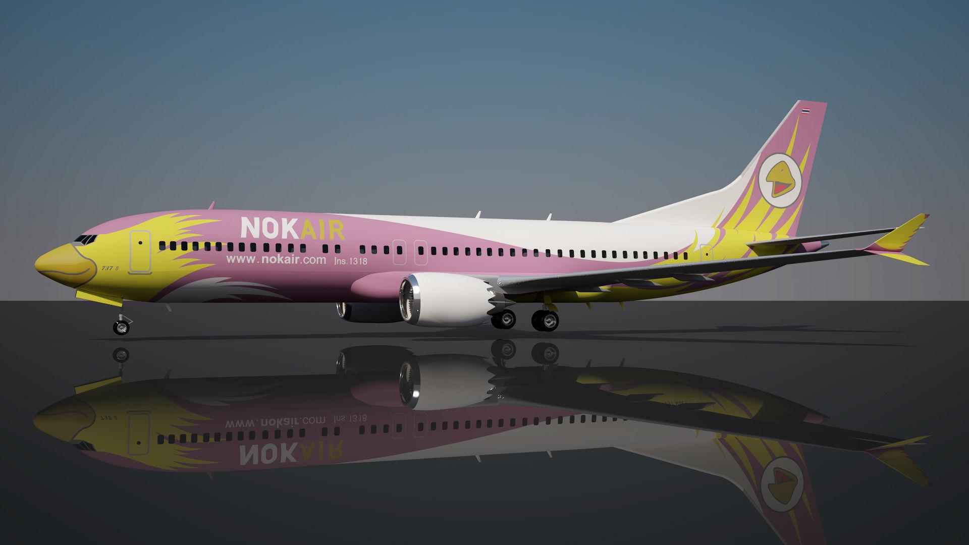 Nok Air Boeing 737 max 8 | 3D model