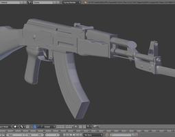 High-Poly AK-47 3D Model