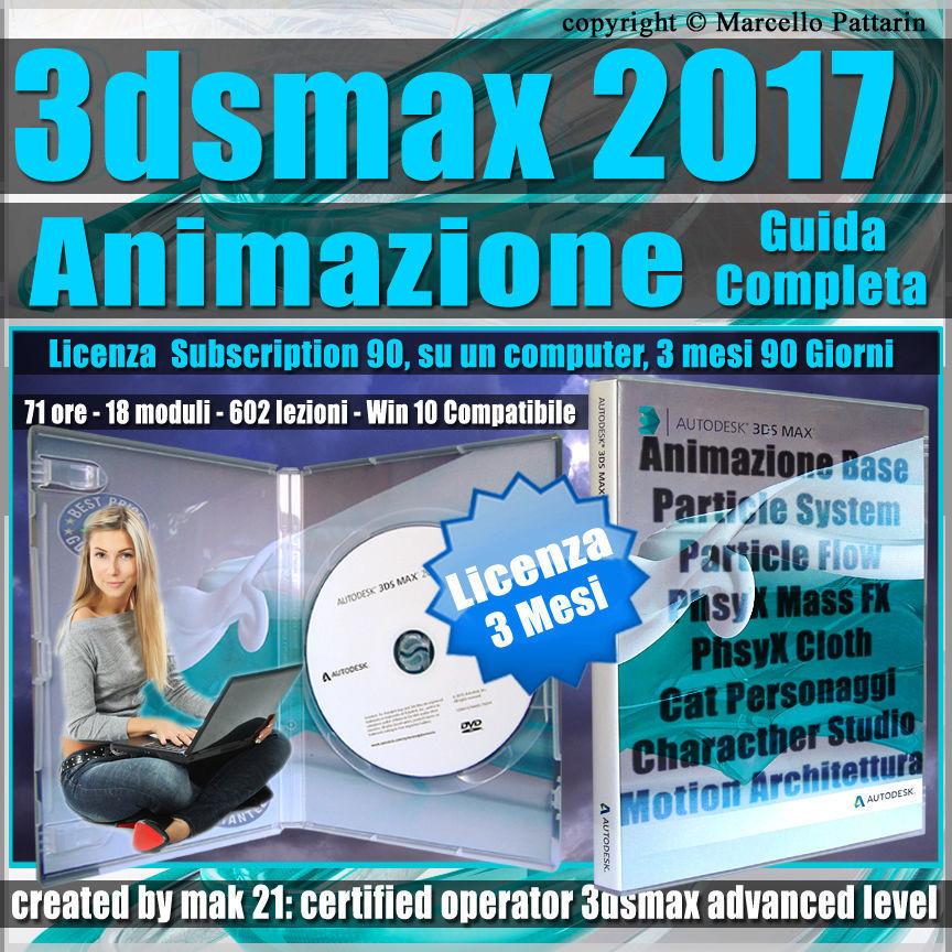 Corso 3ds max 2017 Animazione Guida Completa 3 mesi