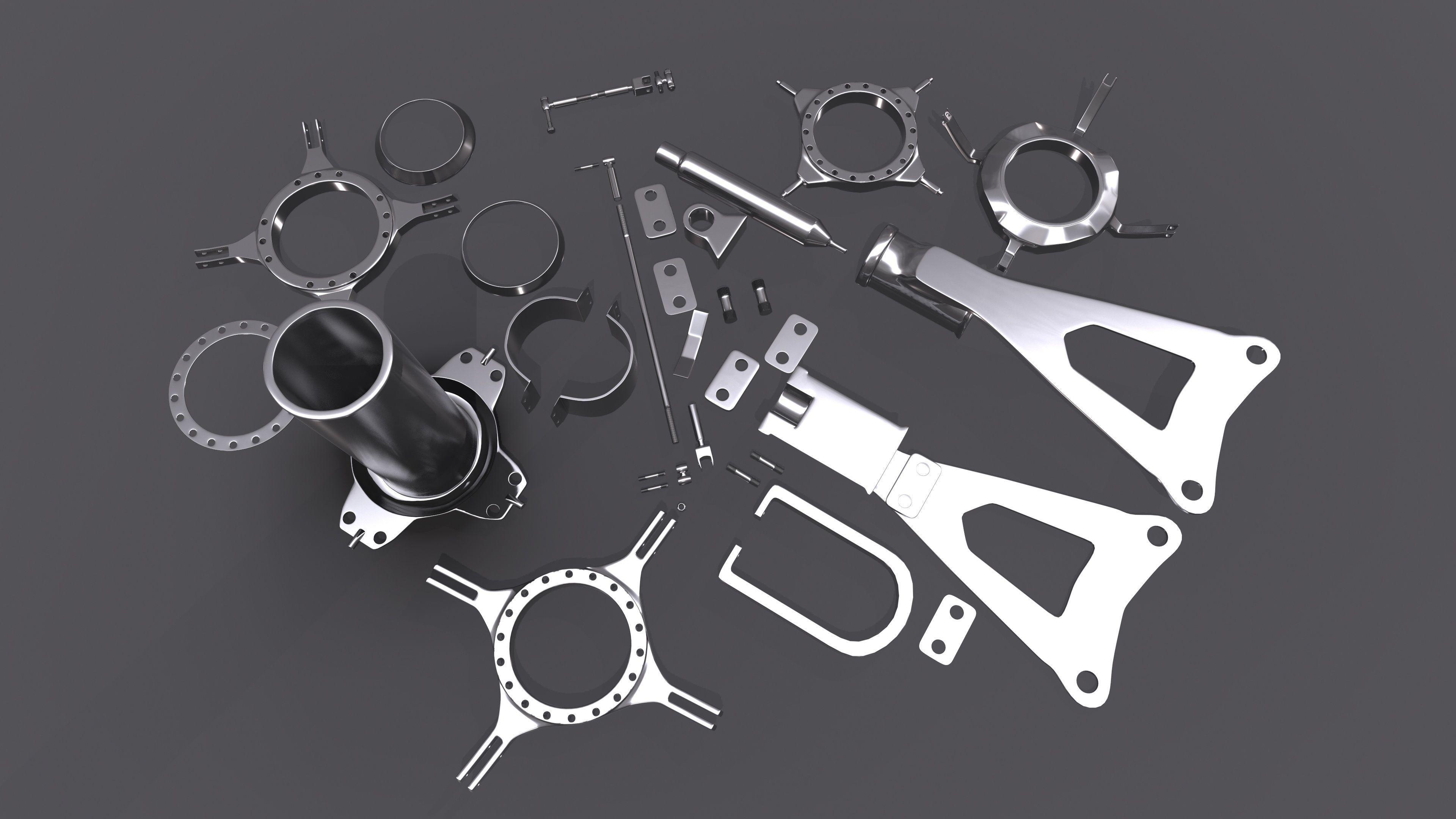 Kitbash set pack 1 | 3D model
