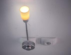 Wall lamp 3D model socket