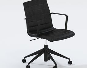 Crate and Barrel - Graham Black Office Chair 3D