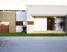 3D Modern house model model