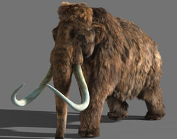 animated 3d mammoth