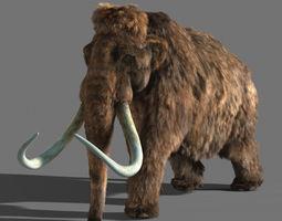 3d mammoth animated