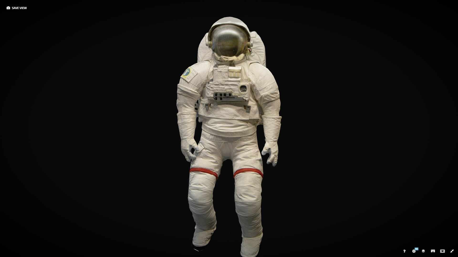 Space suit photogrammetry scan
