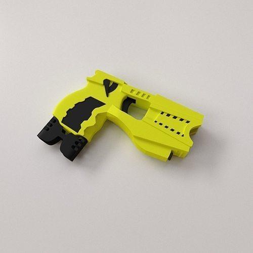 taser gun 3d model obj mtl 3ds fbx blend dae 1