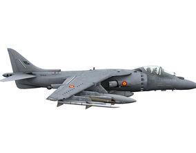3D model Boeing AV-8B Harrier Bravo Spanish Armada