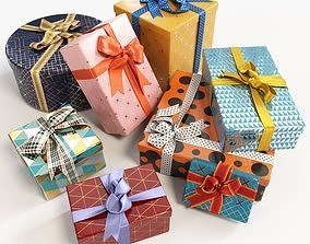 Gift boxes with bows part 2 3D
