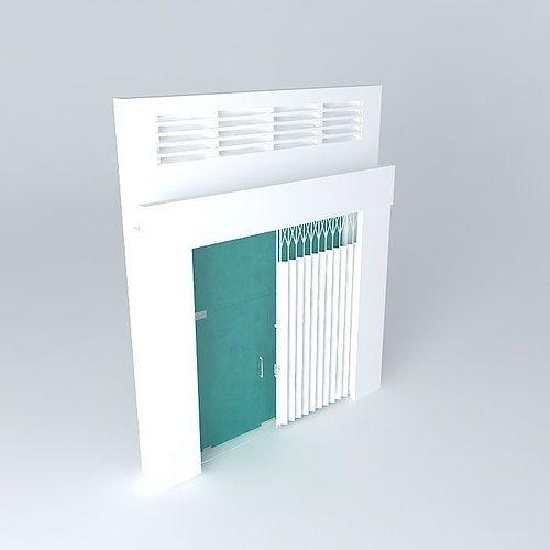 main door for flat 3d model max obj 3ds fbx stl dae 1