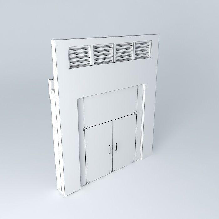 Main door for flat free 3d model max obj 3ds fbx stl dae for Main door model