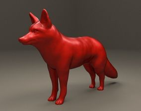 Realistic Red Fox 3D printable model