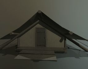 3D model Game Ready Cloth Walltent
