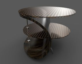 3D model Designer wood table