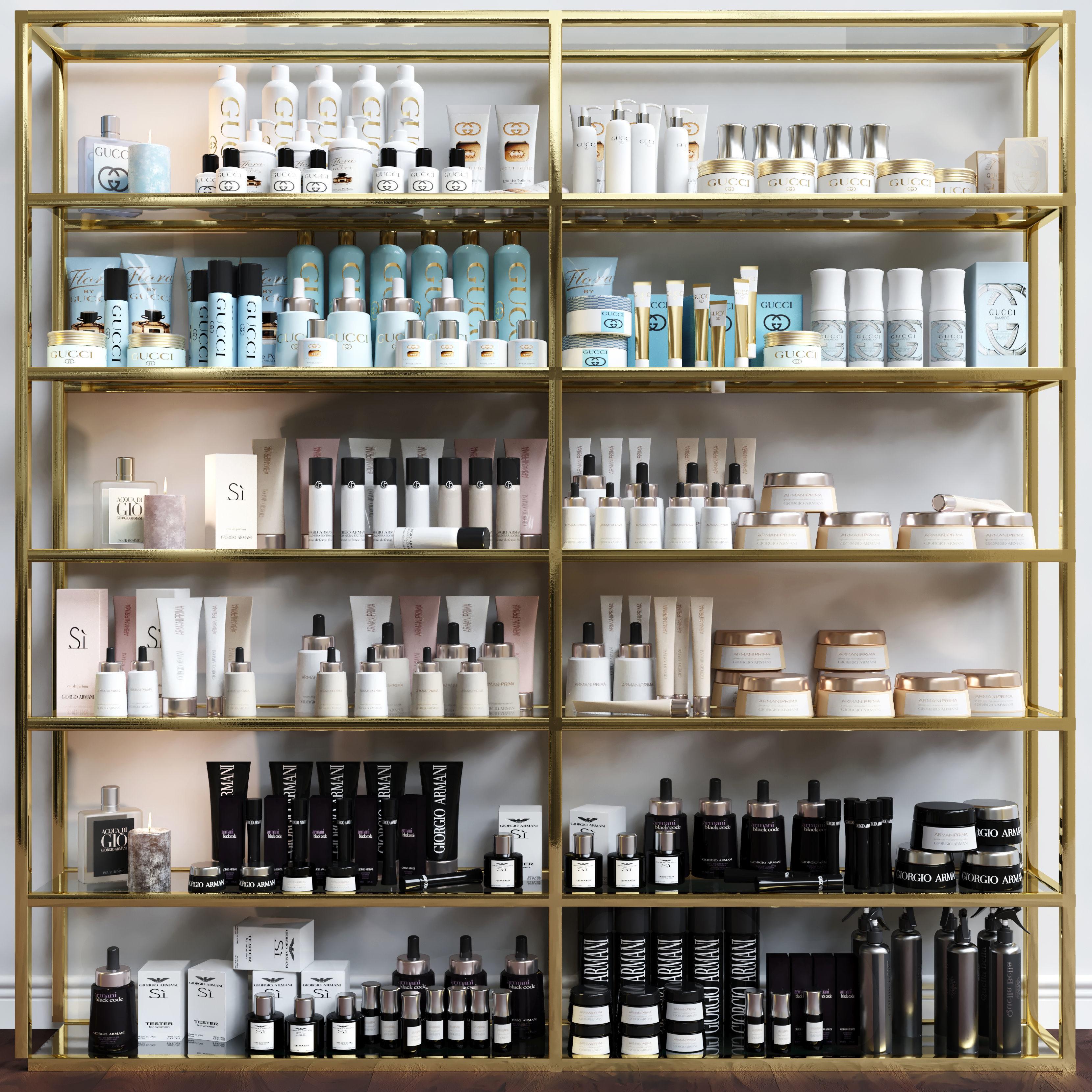 A set of premium cosmetics for a beauty salon