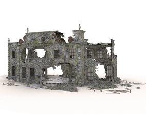 RUINED APOCALYPSE BUILDING 3D asset