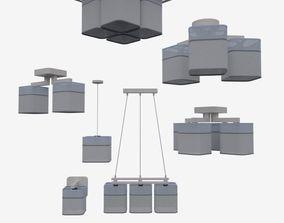 3D model Ibis lamp set