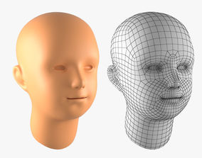 3D asset Boy Head Basemesh