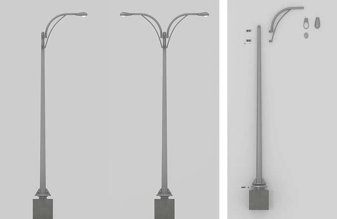 standard streetlight 3d model max obj mtl 3ds fbx dxf dae 1