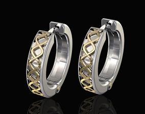 3D print model Spiral Hoop Earrings jewelry
