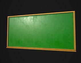 Chalkboard 3D model game-ready
