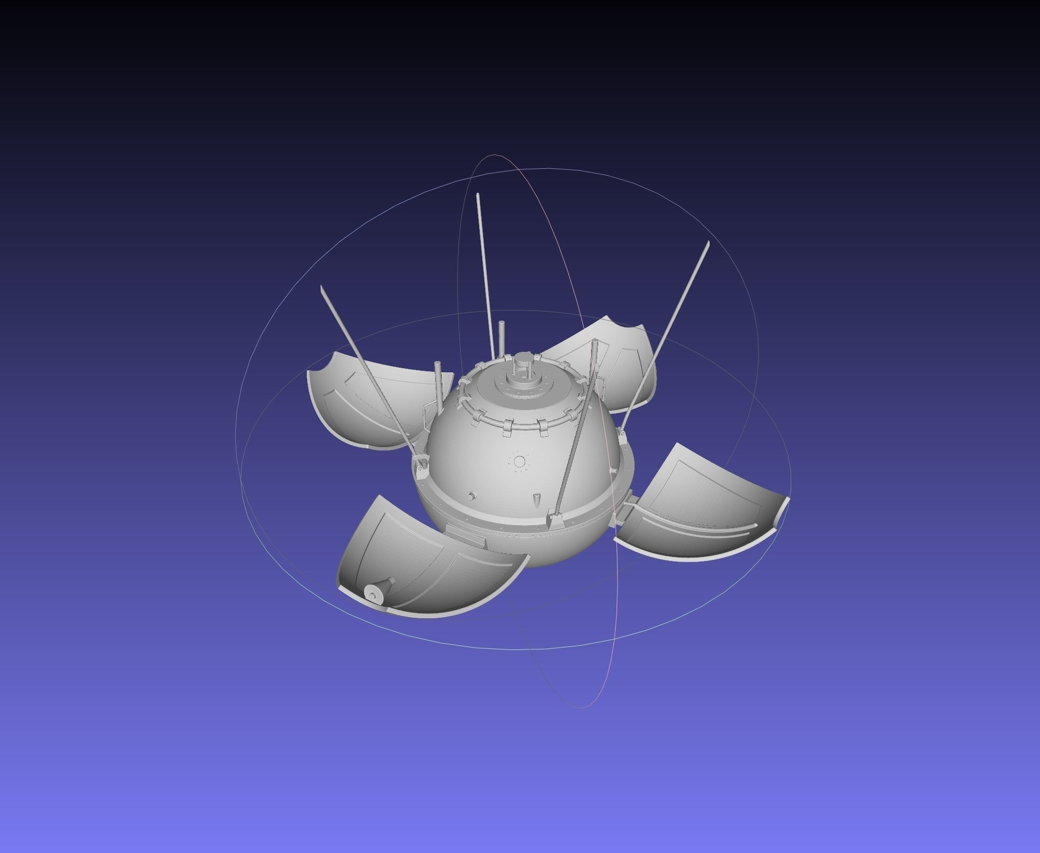 Luna 9 Moon Probe Printable Model