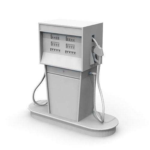 vintage gas pump 3d model stl 1
