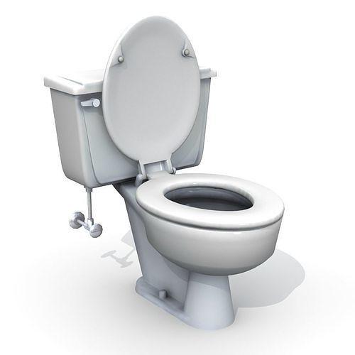 vintage toilet 3d model obj mtl fbx lwo lw lws 1