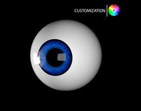 rigged realtime Cartoon eye 3D model