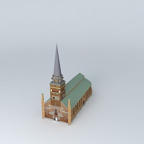 church in vasteras 3d model max obj 3ds fbx stl dae 1