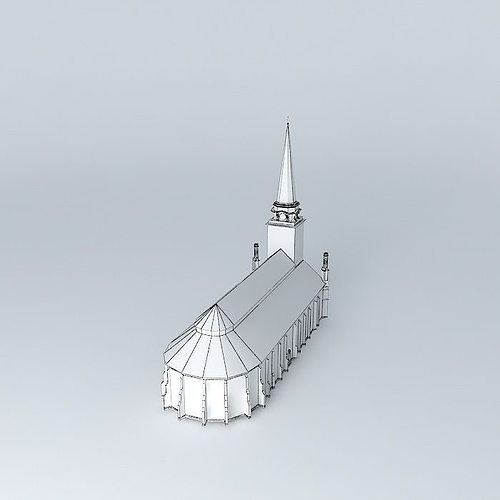 church in vasteras 3d model max obj 3ds fbx stl dae 5