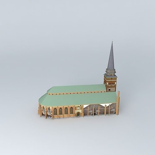 church in vasteras 3d model max obj 3ds fbx stl dae 2
