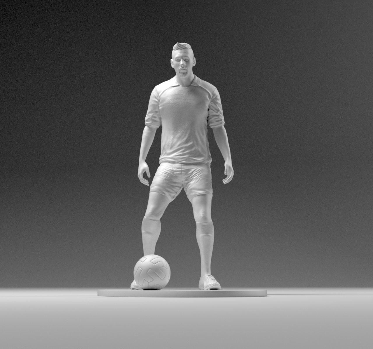 Footballer 03 Prepare To Footstrike 01 Stl