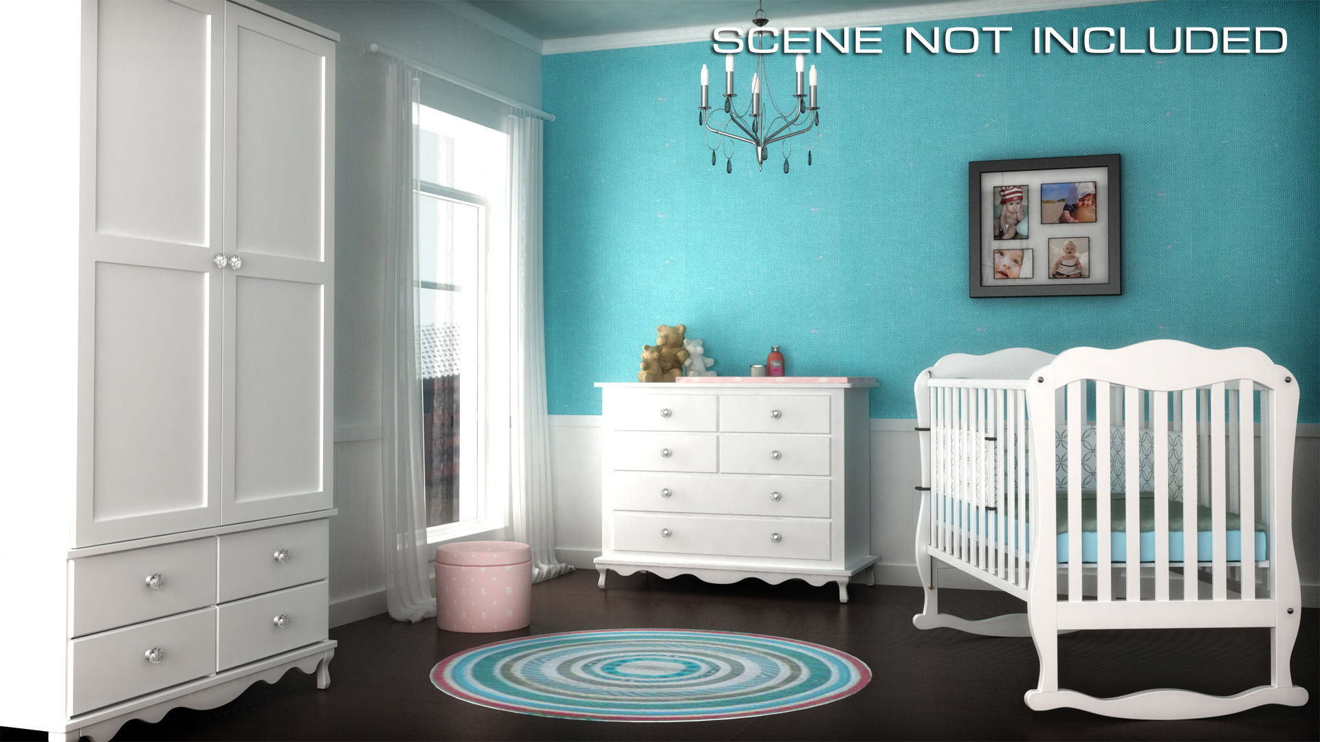 Children Bedroom Furniture Set 2 3D