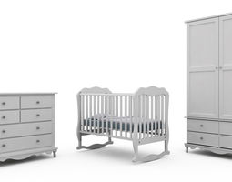 Children Bedroom Furniture Set 2 3D